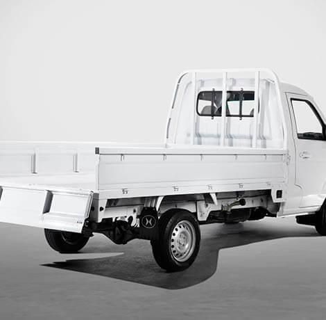 La Pickup T30 puede cargar hasta 1.030 kgs de tu negocio o emprendimiento.